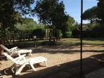 Villa La Bouganvillea patio view