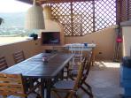 veranda con barbecue esterno