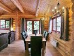 open plan dining room/ living room