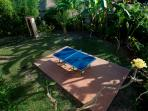 There's also a table tennis area in the garden