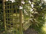 Cosy garden swing for relaxing