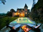 Beautiful gite & B&B in Chateau,Pool, Overlooking  River