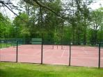 Community tennis courts (clay).