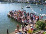 Childrens' crabbing competition on Pope's Quay - a Regatta event