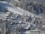 Ariel View of the chalet - ski in !
