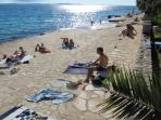 Closest beach - 2 min walking