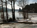 Le lac l'hivers