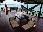 Mango House's Seafront 2 Bedroom Villa (Seafront Suite 1 and 2 combined) private terrace