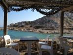 A beach bar on the Frioul  island