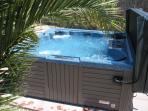 Garden jacuzzi - which is warmed by the heat from the sun