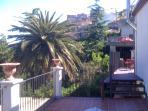 Terrazza con vista sul giardino