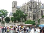 Le Mans - Sunday morning market. Very popular with our guests.
