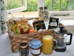 Tuck into your complimentary breakfast hamper - topped up daily. Sainsbury's is a 5 minute walk