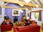 with open plan Living Area . . .