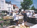 Boston market, open-air auction