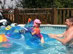 Fun in the pool - now fully heated