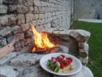 Bon appetite, private bbq on front terrace overlooking lawns and trees