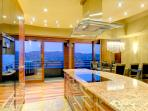 Another view of the gorgeous, one of a kind, designer kitchen