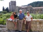 The abbey in the town of Lagrasse - a nice picnic spot