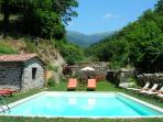 Pool with the Apennine mountains behind