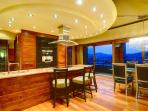 Solid wood kitchen with top-of-the-line modern appliances