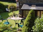 Lovely gardens surround the cottage