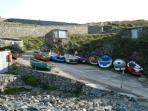 The fishing fleet at Priests Cove Cape Cornwall