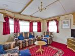Lounge area book this caravan for your family holiday 2017.