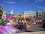 In valletta during Carnival times