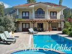 A spacious secluded villa in idyllic rural setting close to the village of Dalyan