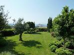 Magical Sea Views from the private landscaped 1 acre garden