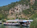 Rock tombs by the Dalyan River