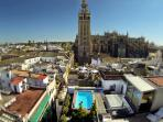 One of the few swimming pools in the center of Seville