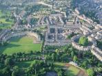 Ariel view of the Royal Crescent
