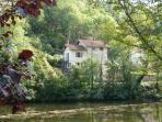 Our lovely Bed and Breakfast house from across the River Aveyron, a 10 minute walk from the Bastide.