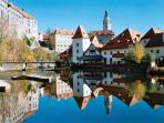Famous town of Cesky Krumlov (UNESCO heritage) is only 60 min. by car