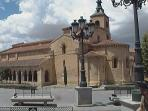 My favorite medieval ROMANIC church from the 11th century in Segovia. Portico showing.