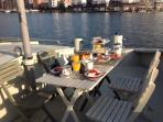 breakfast on the sundeck