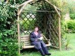 Swing seat in communal garden