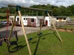 Mold, North Wales, 4/5 berth caravan in farm yard