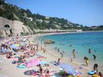 Enjoy the beach in Villefranche (only 5 km away)