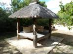 Indonesian gazebo chill out area