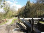 The locks on the Monmouth Canal at LLangynidr