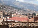 Vista panoramica  de la ciudad del Cusco,desde la terrasa