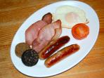 Our Full Irish Breakfast from our menu which can be delivered to your Cottage
