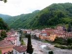 One of the many stunning views you will see as you travel around the area of Bagni di Lucca