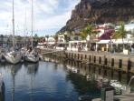 Puerto Mogan marina and restaurants only 10 minutes by car now motorway is completed