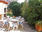 Terrace with Stone BBQ ideal for dining al fresco