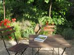 Sunny reading nook in the Secret Garden