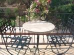 Sunny balcony overlooking garden - turqouise suite